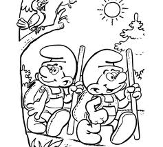 Coloring page the smurfs to color for kids