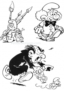 Coloring page the smurfs free to color for children