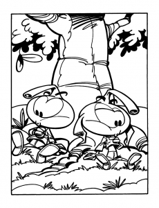 Coloring page the snorkies to color for children