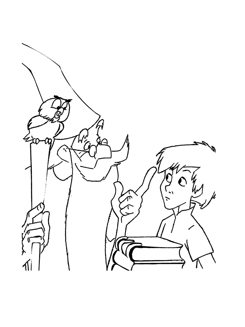 Simple The Sword in the Stone coloring page for children
