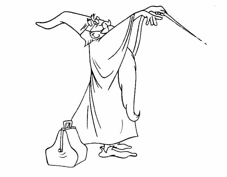 Beautiful The Sword in the Stone coloring page to print and color