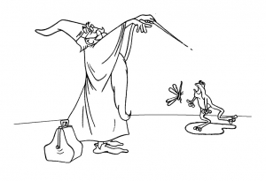 Coloring page the sword in the stone to download for free