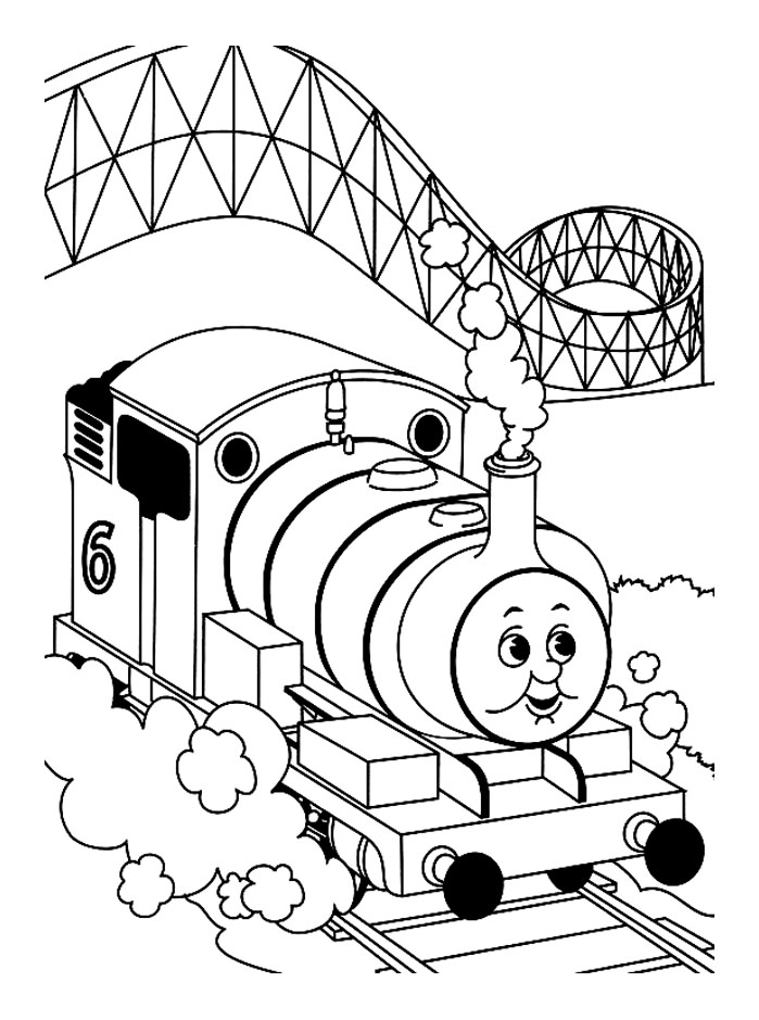 Incredible Thomas And Friends coloring page to print and color for free