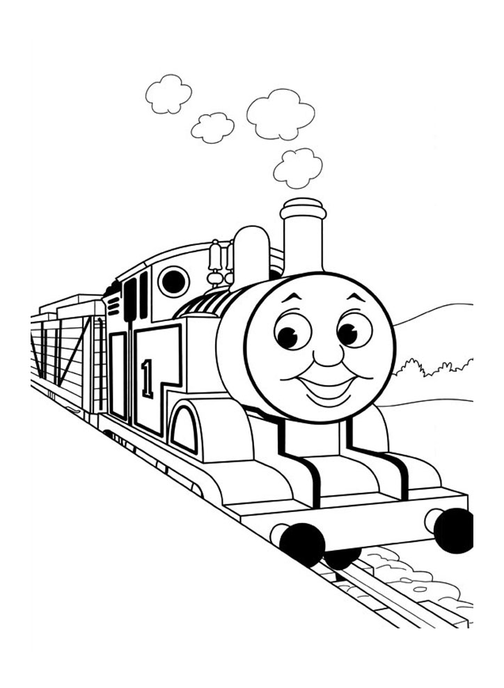 Free Thomas And Friends coloring page to download, for children
