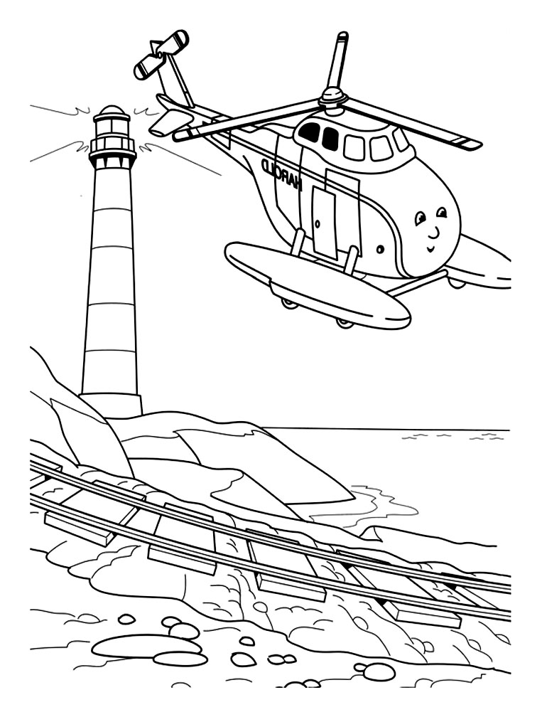 Simple Thomas And Friends coloring page