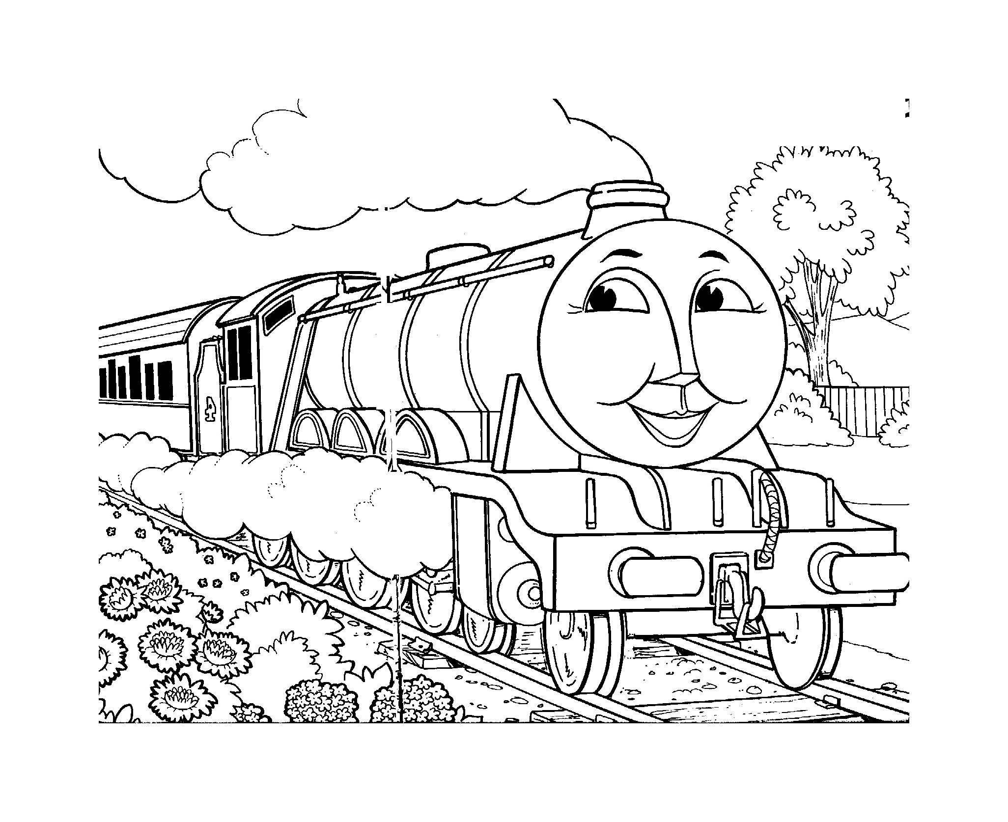 Funny free Thomas And Friends coloring page to print and color