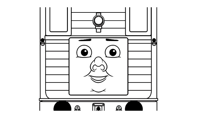 Free Thomas And Friends coloring page to print and color, for kids