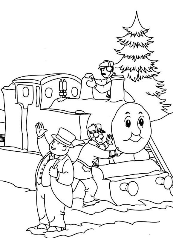 Funny Thomas And Friends coloring page for kids