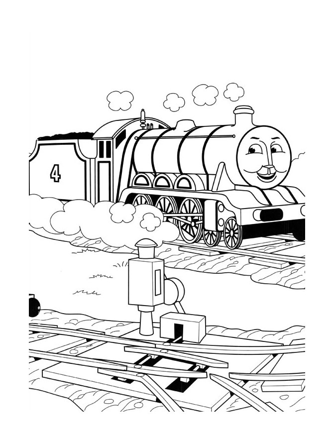 Beautiful Thomas And Friends coloring page to print and color