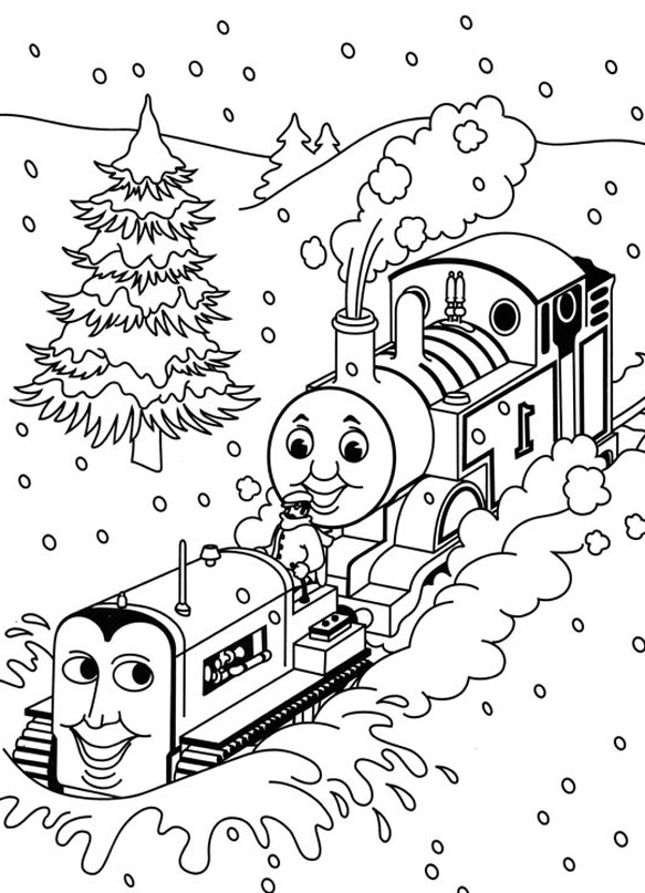 Printable Thomas And Friends coloring page to print and color for free