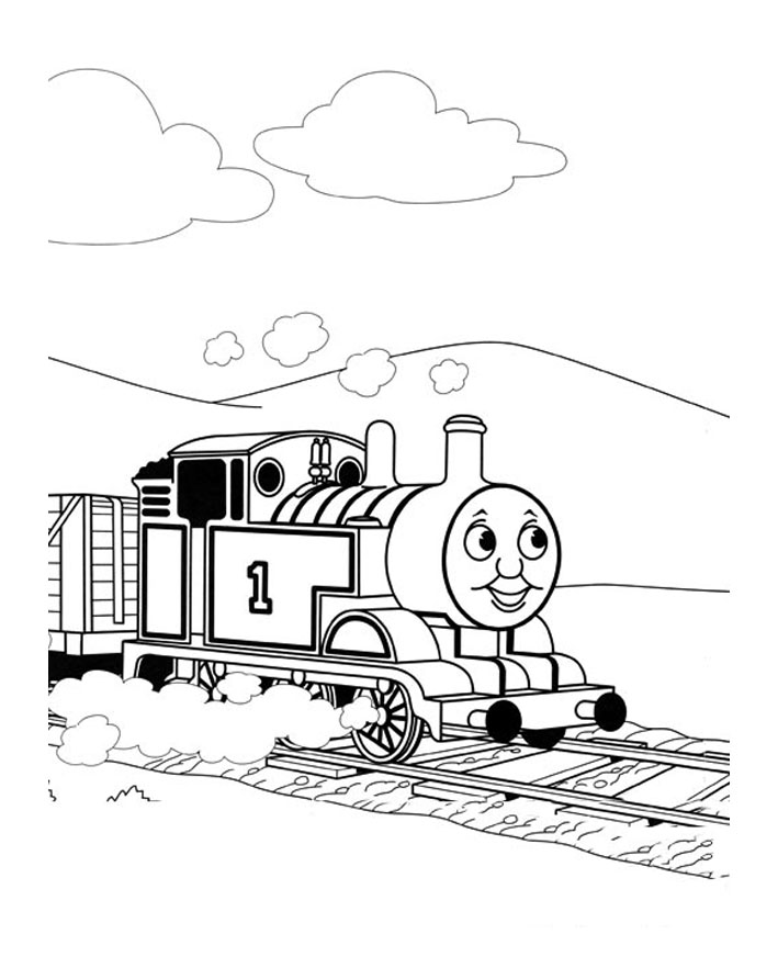 Printable Thomas And Friends coloring page to print and color