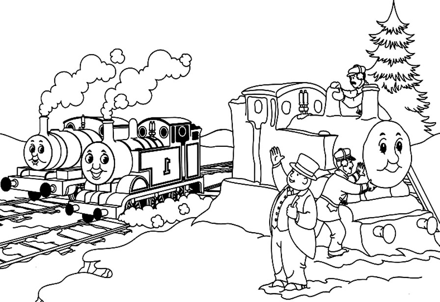 Simple Thomas And Friends coloring page for kids