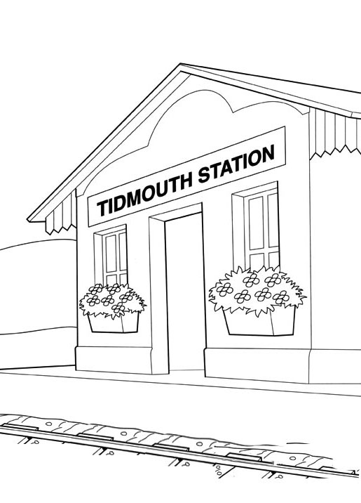 Free Thomas And Friends coloring page to download