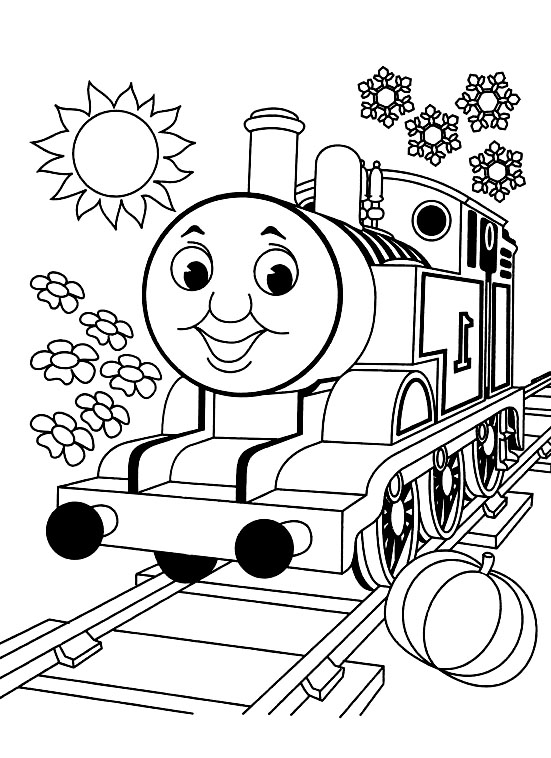 Thomas and friends free to color