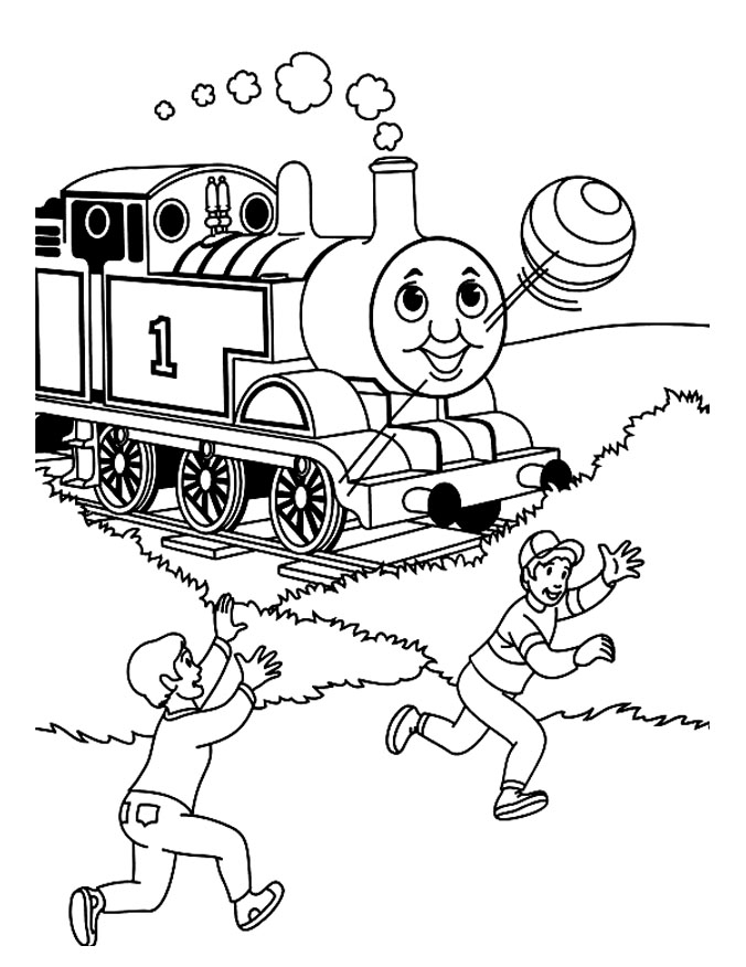 Thomas And Friends coloring page to print and color for free