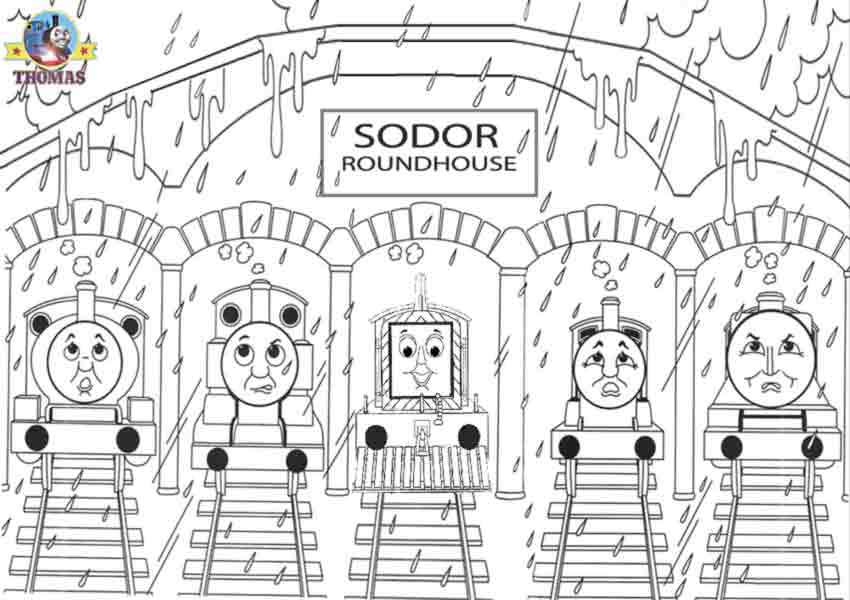 Thomas And Friends Coloring Page To Print Color