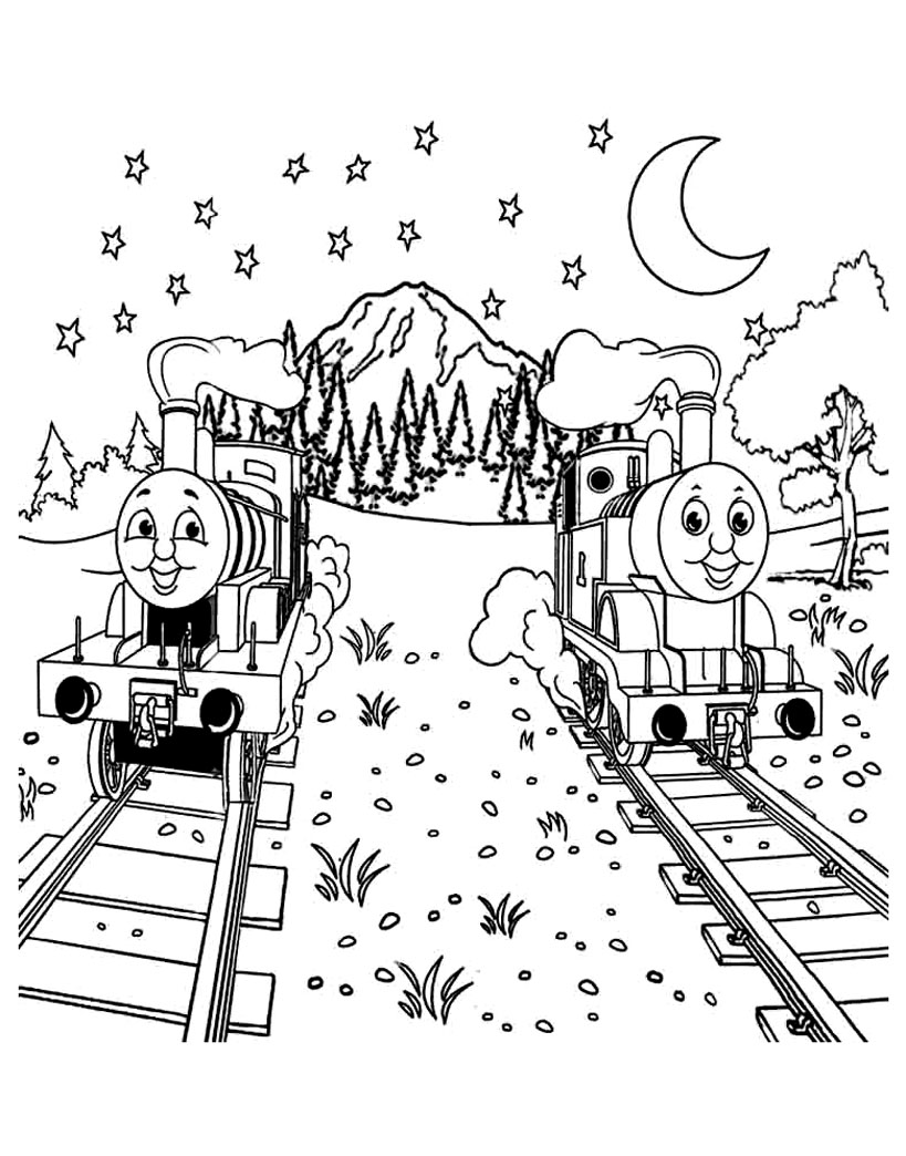 Thomas And Friends coloring page to download for free