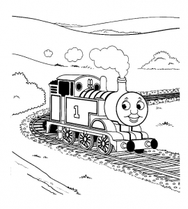 Coloring page thomas and friends to color for kids