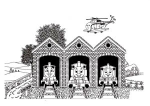Coloring page thomas and friends to color for children