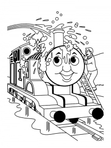 Coloring page thomas and friends for children
