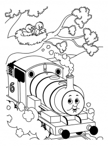 Coloring page thomas and friends to print