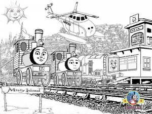 Coloring page thomas and friends to download for free