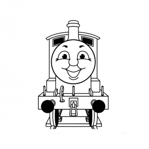 Coloring page thomas and friends to print for free