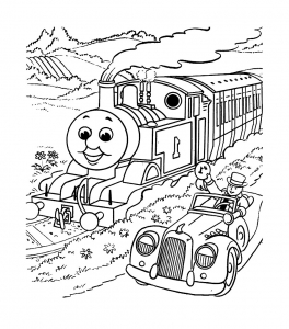 Coloring page thomas and friends to download