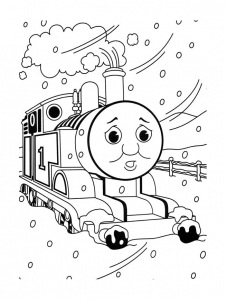 Coloring page thomas and friends free to color for children