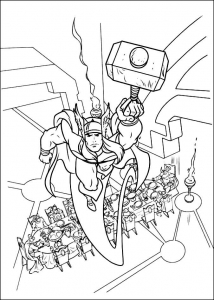 Coloring page thor to print