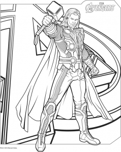 Coloring page thor for kids
