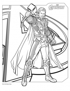 Coloring page thor to download for free