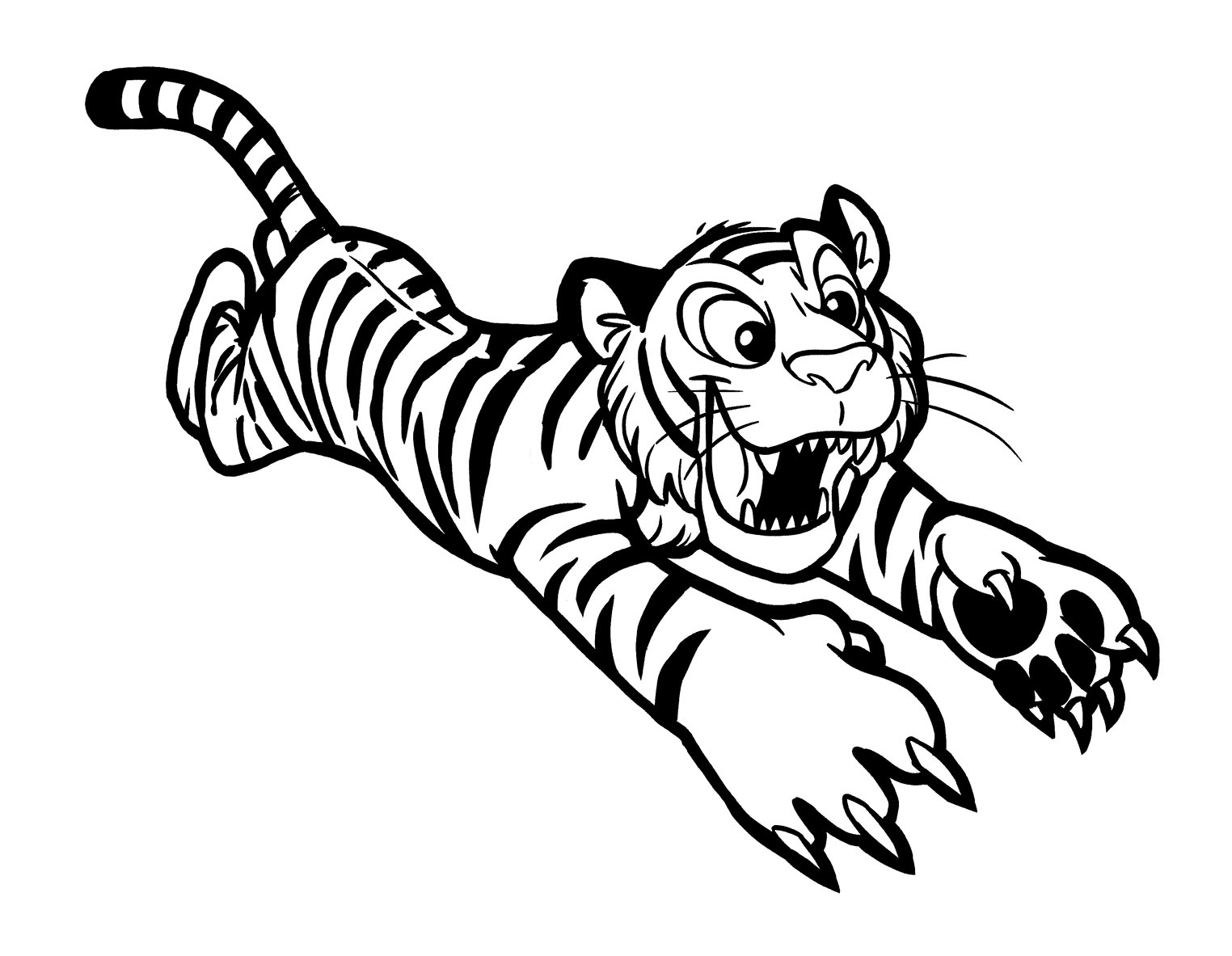 Free Tigers coloring page to print and color, for kids