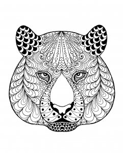 Coloring page tigers free to color for children