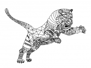 Coloring page tigers to download for free