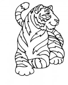 Coloring page tigers for children