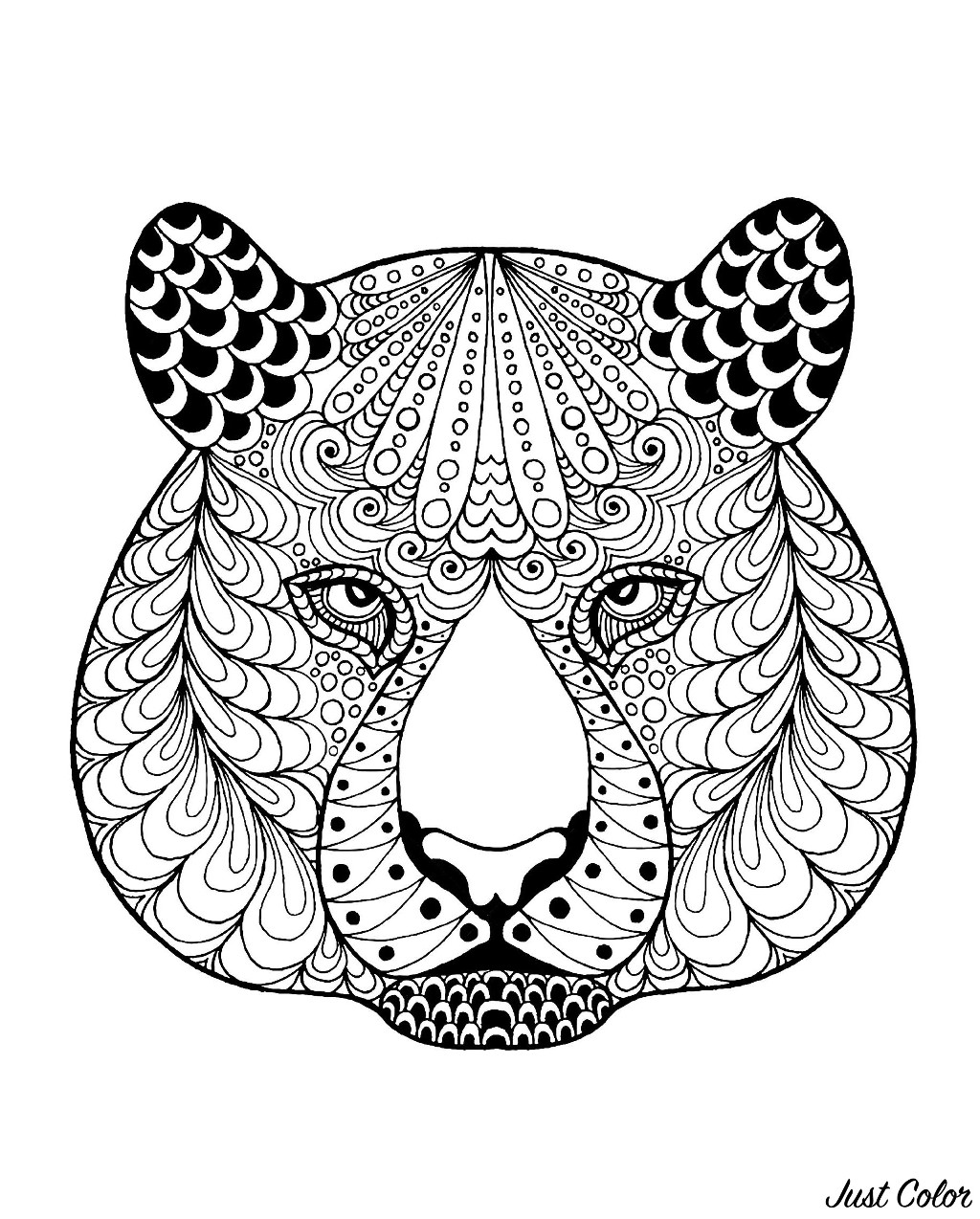 Simple Tigers coloring page to download for free