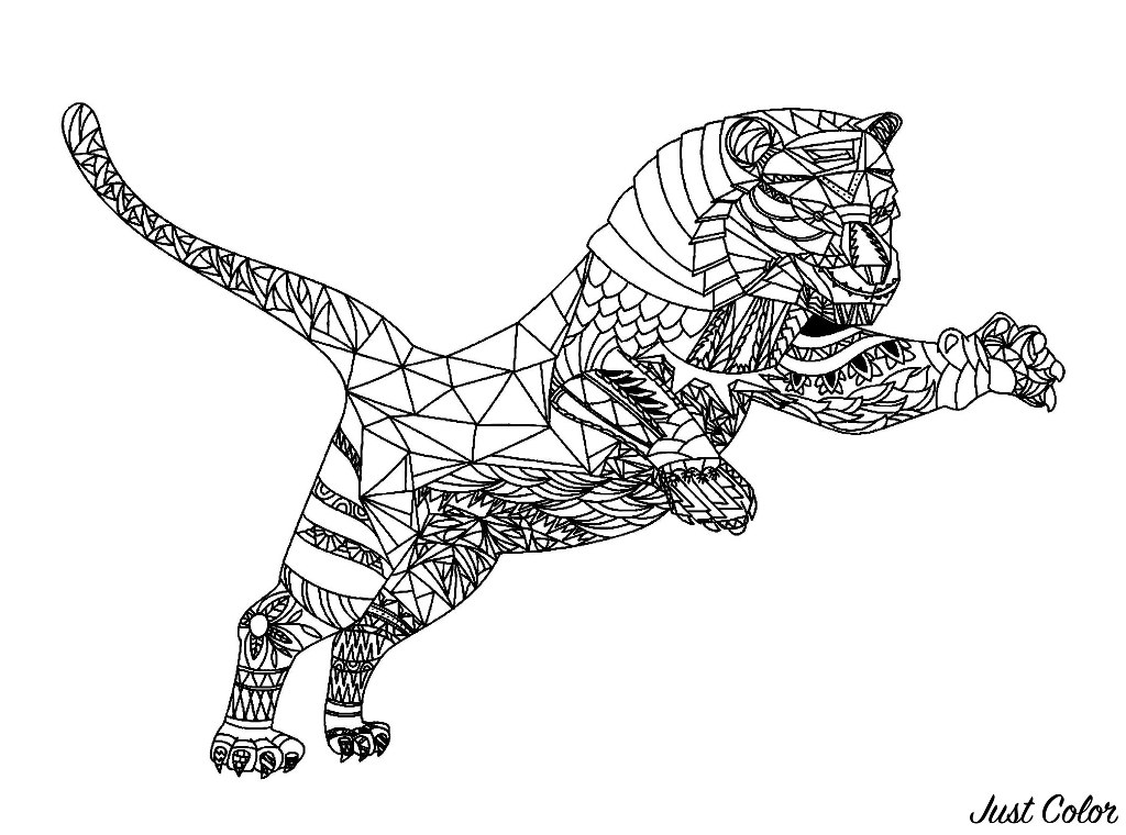 Beautiful Tigers coloring page