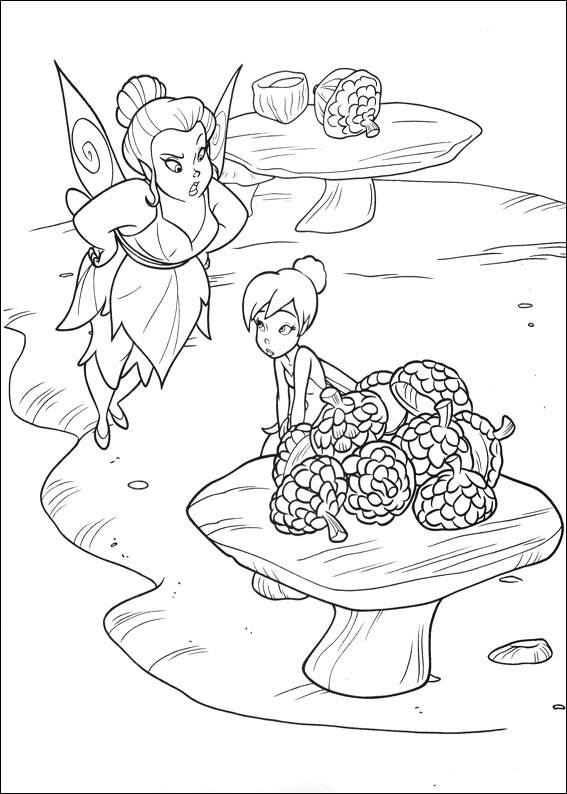 Tincker Bell coloring page to print and color