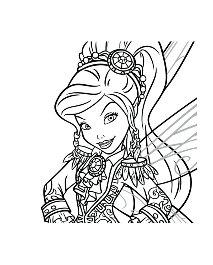 Free Tincker Bell coloring page to download, for children