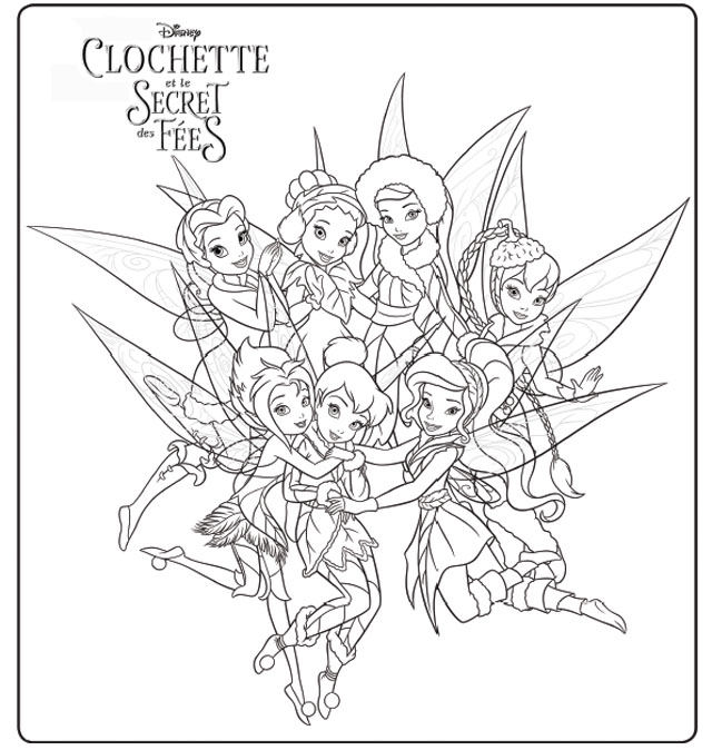 Free Tincker Bell coloring page to download