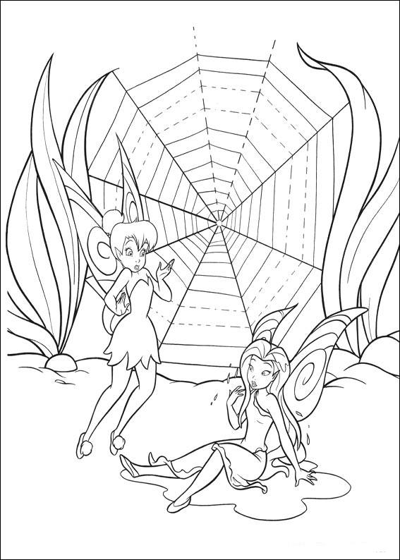 Simple Tincker Bell coloring page to download for free