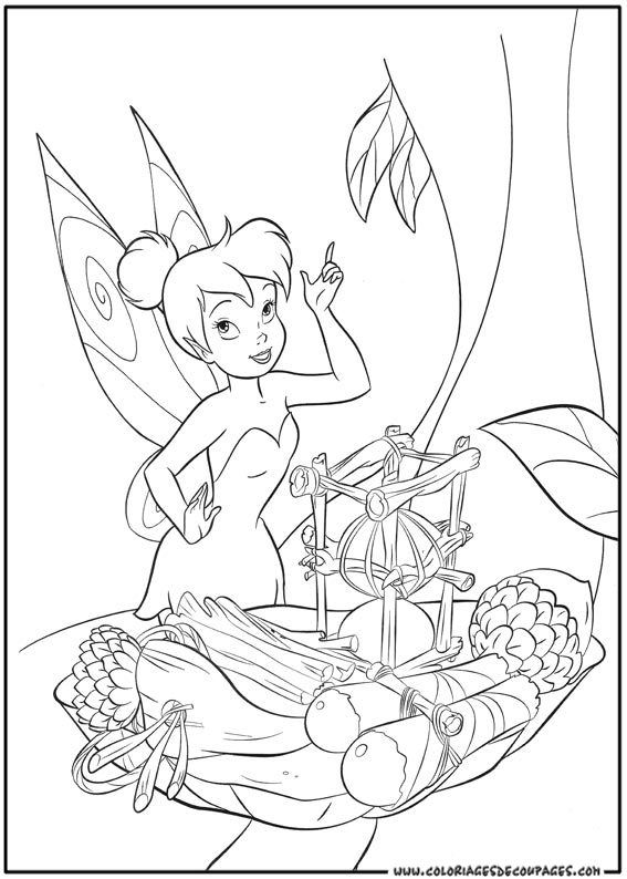 Beautiful Tincker Bell coloring page to print and color