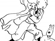 Tintin Coloring Pages for Kids