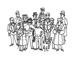 Coloring page tintin free to color for children