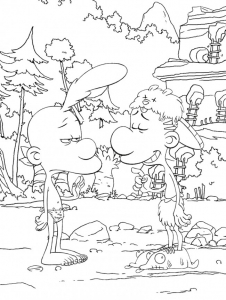 Coloring page titeuf to color for children