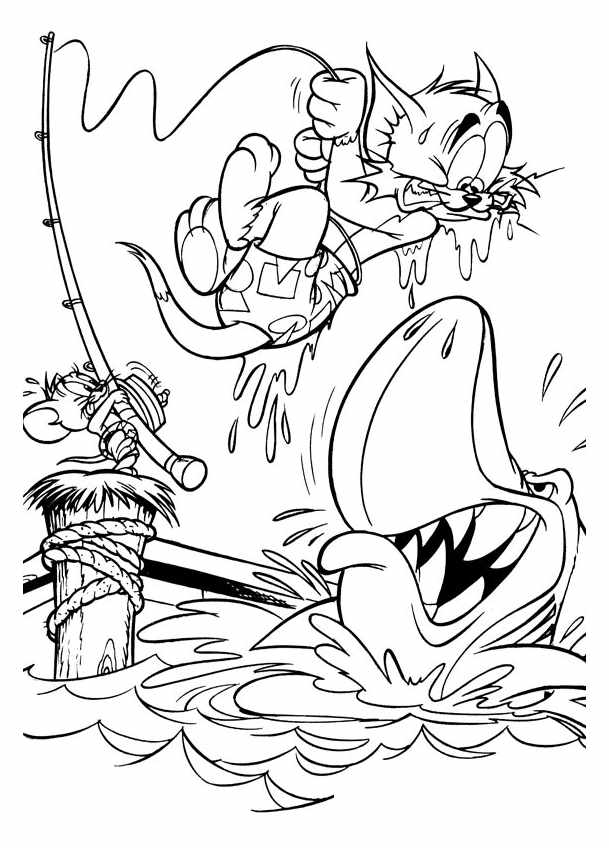 Tom and jerry for kids - Tom And Jerry Kids Coloring Pages