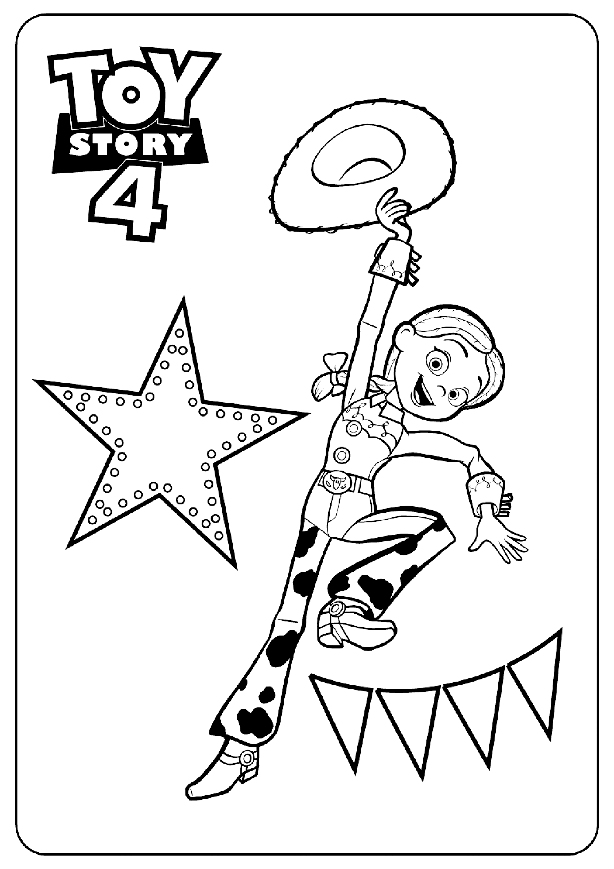 Printable Toy Story 4 coloring page to print and color : Wendy