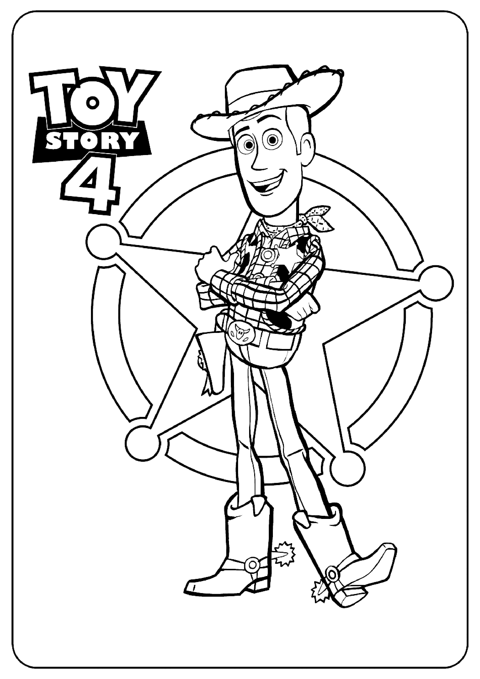 Woody Toy Story 4 Disney Pixar Coloring Pages Toy Story 4
