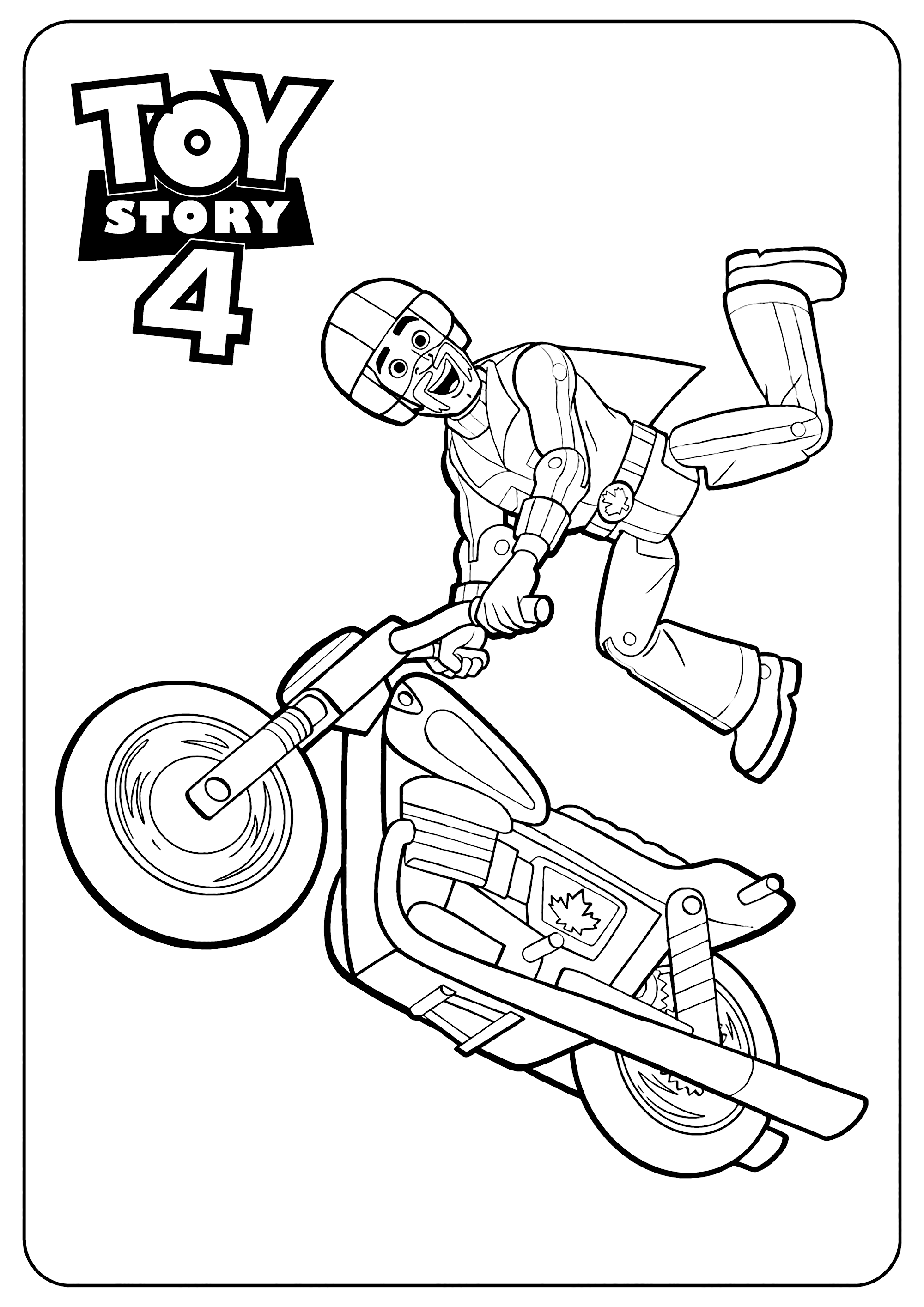 Simple Toy Story 4 coloring page : Duke Caboom